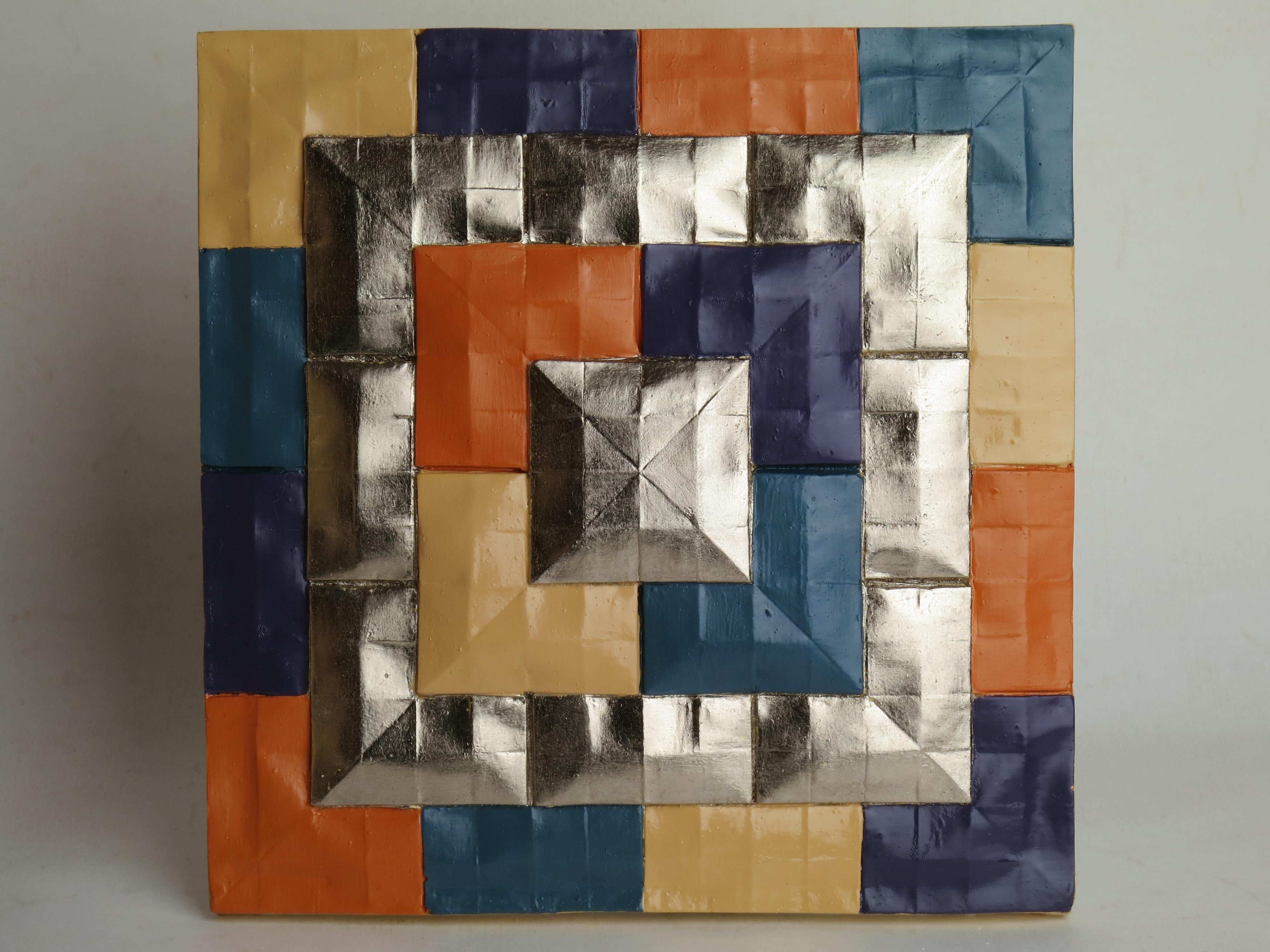 Plaster origami castings