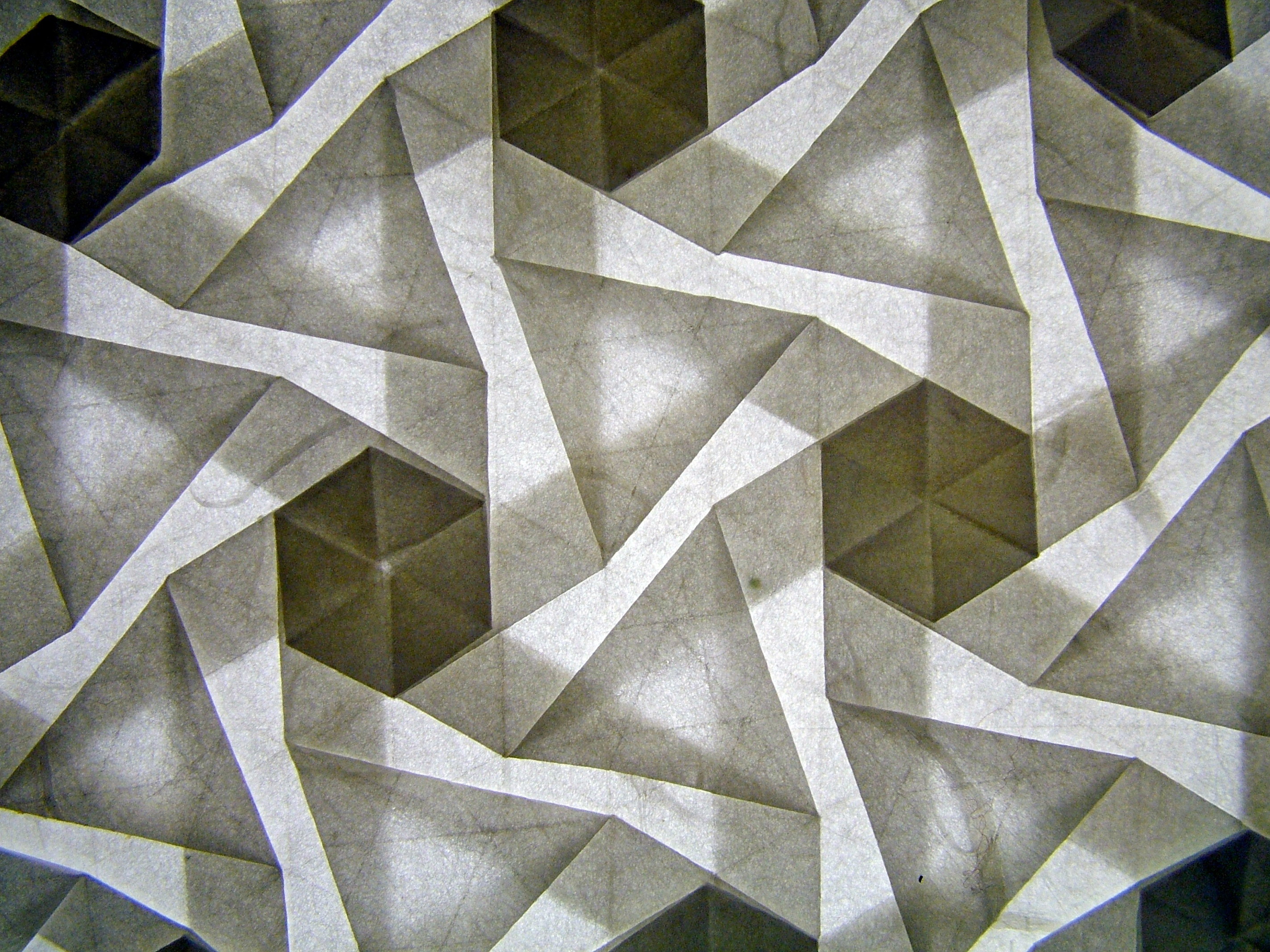 Pinwheel tessellation, version 2, reverse, backlit